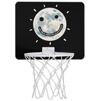 Sol- förmörkelsemåne Emoji för underbar amerikan Mini-Basketkorg