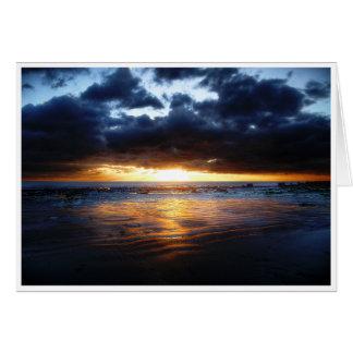Sol, hav och Sand Hälsningskort