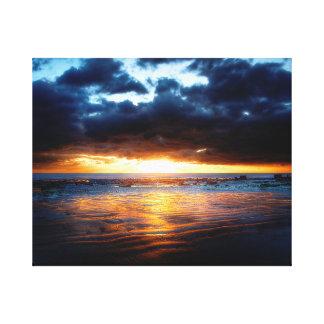 Sol, hav & Sand Canvastryck