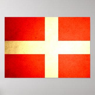 Sol kysst Danmark flagga Poster