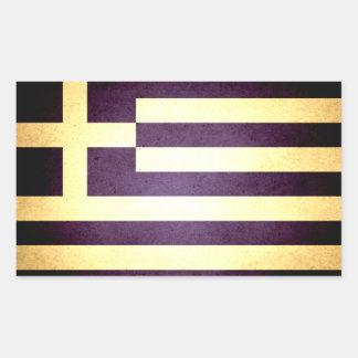 Sol kysst Grekland flagga Rektangulärt Klistermärke