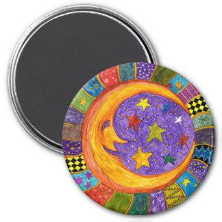 Sol, måne och stjärnamagnet magnet