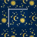 Sol, måne & stjärnor tyg