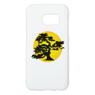 Sol- och BonsaiSilhouette Galaxy S5 Skal