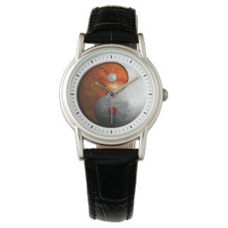 Sol och måne Yin Yang Armbandsur