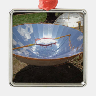 sol- spis silverfärgad fyrkantigt julgransprydnad
