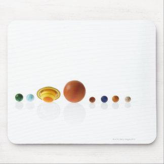 Sol- systemplanet på vitbakgrund 2 musmatta