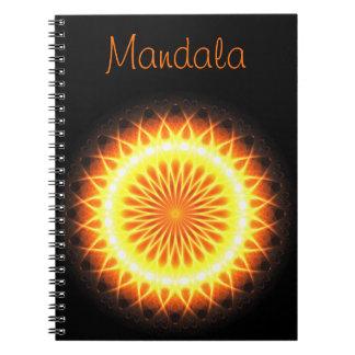 Sol- text för mall för signalljusMandala  ! :) Anteckningsbok
