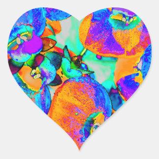 sol- växt hjärtformat klistermärke