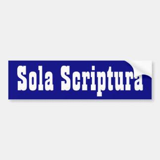 Sola Scriptura Bildekal