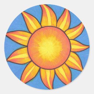 Solälskaresol Runt Klistermärke