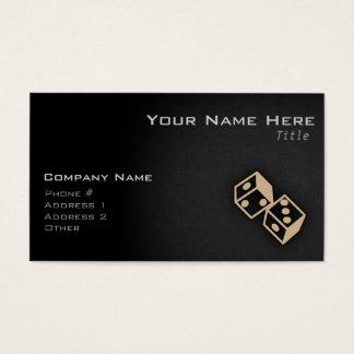 Solbränd brun tärning visitkort