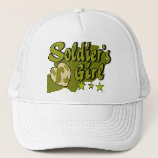 soldat stänk för flickagrönt truckerkeps