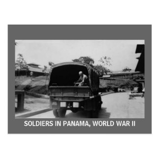 SOLDATER I PANAMA, VÄRLDSKRIG II VYKORT