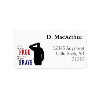 Soldathonnöradressetiketter Adressetikett