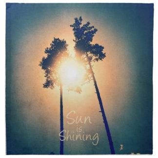 Solen är glänsande tygservett