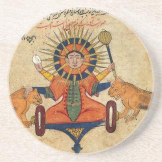 Solen från persiskt manuskript 373 dryck underlägg