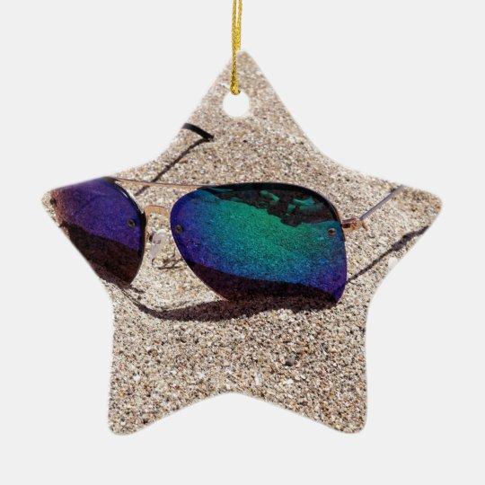 Solglasögon Stjärnformad Julgransprydnad I Keramik