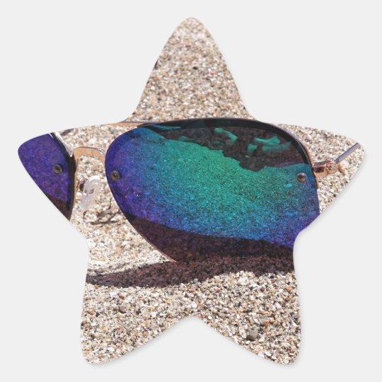 Solglasögon Stjärnformat Klistermärke