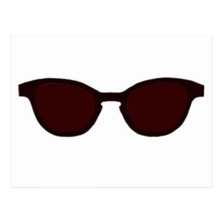 Solglasögonen bryner kanten bruna Lens MUSEET Vykort