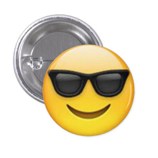 Solglasögonen Emoji knäppas Mini Knapp Rund 3.2 Cm