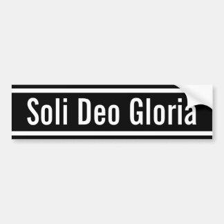Soli Deo Gloria Bildekal