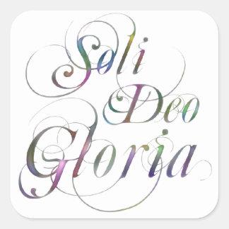 Soli Deo Gloria Fyrkantigt Klistermärke