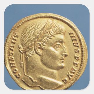 Solidus av Constantine mig Fyrkantigt Klistermärke