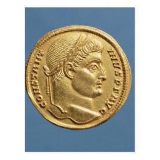 Solidus av Constantine mig Vykort
