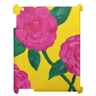 Solig blommigt iPad fodral