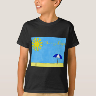Solig dagstrand t shirt