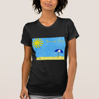 Solig dagstrand t-shirt