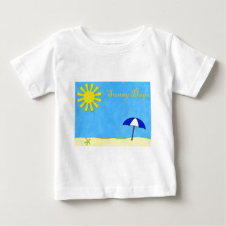Solig dagstrand t-shirts