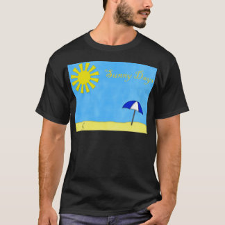 Solig dagstrand tee shirt