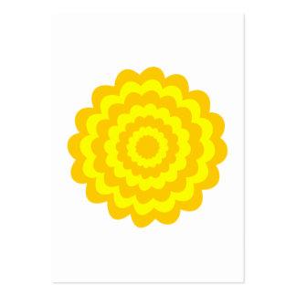 Solig gul flower. set av breda visitkort