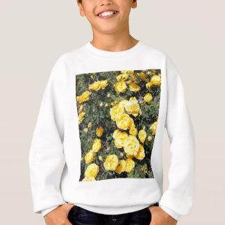 Solig gul rosblommabuss tee shirt