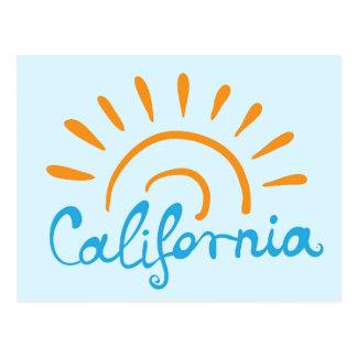 Solig Kalifornien logotyp Vykort