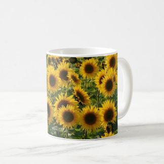 Solig solrosfältmugg kaffemugg