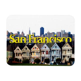 Soliga San Francisco med San Francisco i himmlen Magnet