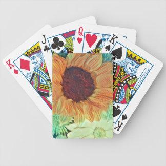 Soliga solrosor spelkort