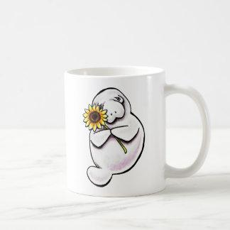 Soligt ManateeAv-Koppel Art™ Kaffemugg