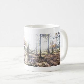 Soligt Wood panorama- landskap muggen Kaffemugg