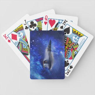 Solitt barriärflygplan spelkort
