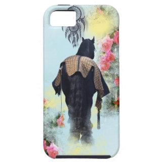 Solljus för ponny för ro för Friesianhingsthäst iPhone 5 Case-Mate Skal