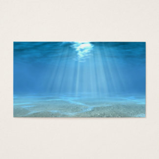 Solljus i hav visitkort