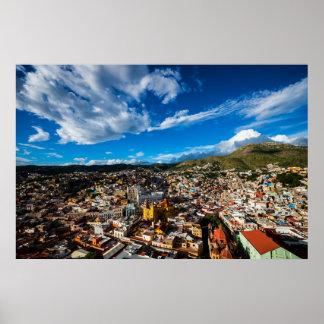Solnedgång av Guanajuato Poster