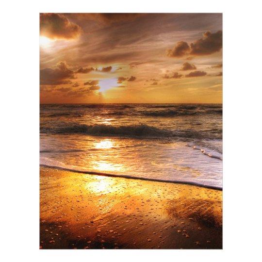 Solnedgång Brevhuvud