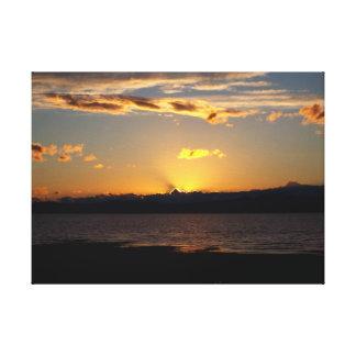 Solnedgång Canvastryck