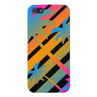 Solnedgång för palmträd för Corey tiger80-tal Retr iPhone 5 Cover
