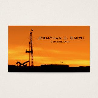 Solnedgång för rigg för OilfieldWorkover tjänste- Visitkort